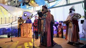 Recepción de los Reyes de Oriente en la Feria Real de Sabadell.