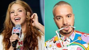 Shakira, barranquillera, y J Balvin, medellinense, compatriotas pero no amigos.