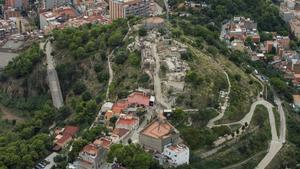 Vista aérea de los búnkers del  Carmel.