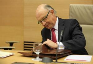 El ministro de Hacienda, Cristóbal Montoro, en una imagen de archivo.