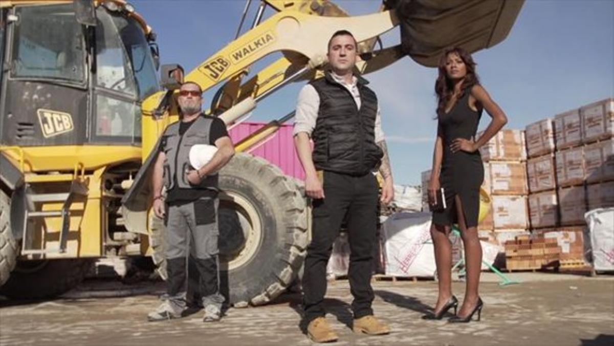 Manuel, Antonio y Eugenia, el equipo del espacio 'Constructora la fuga'.