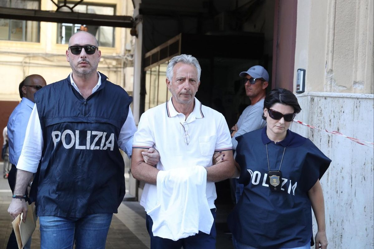 Detienen a Francesco Inzerillo, uno de los cabecillas de la Cosa Nostra en Palermo, Italia. EFE