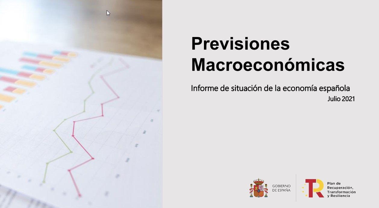 Previsiones macroeconómicas del Gobierno de España (julio de 2021)