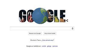 'Doodle' que proposa Google aquest dimecres en l'homenatge al Dia de la Terra.