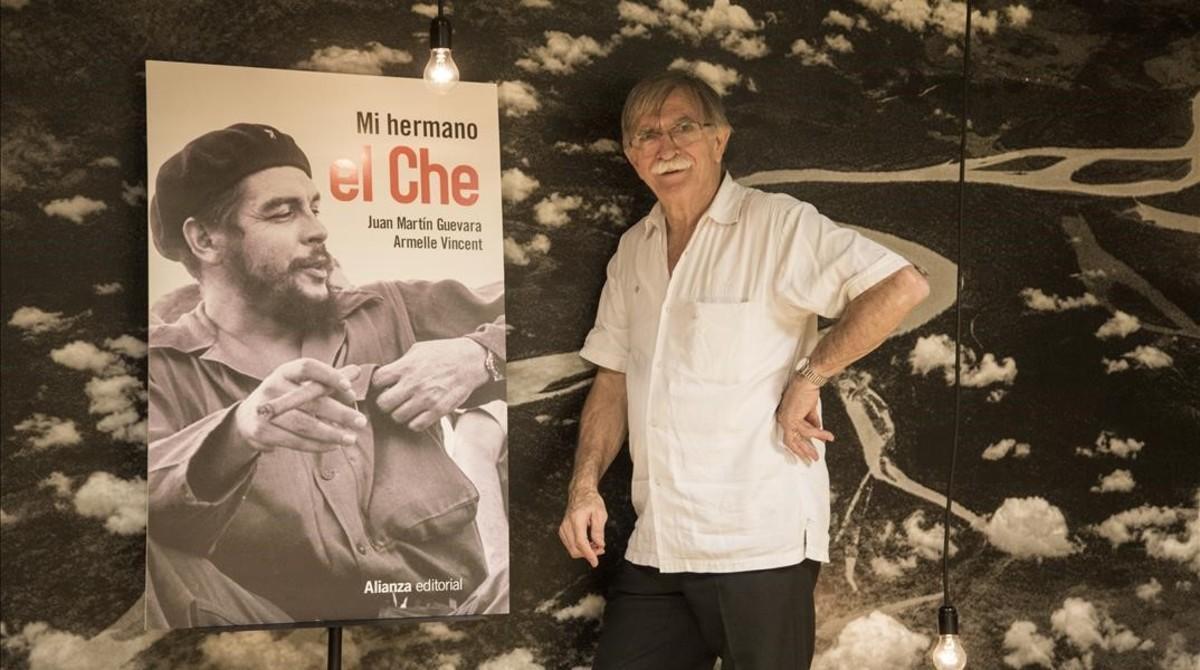 Juan Martín Guevara, en la sede de Casa Amèrica, en Barcelona, el 21 de abril.