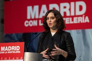 Isabel Díaz Ayuso, en un acto con el sector de la hostelería.