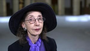 Joyce Carol Oates, en Barcelona en el 2017.