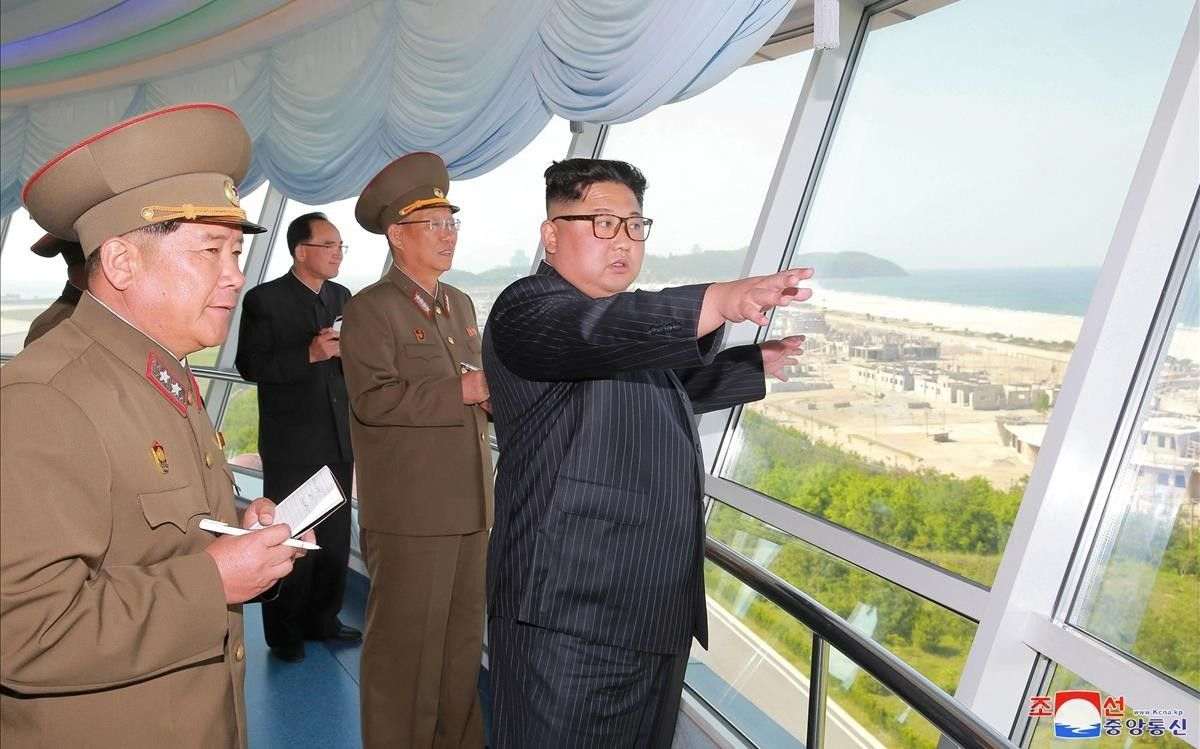 Kim Jong-un, durante unos ensayos nucleares.