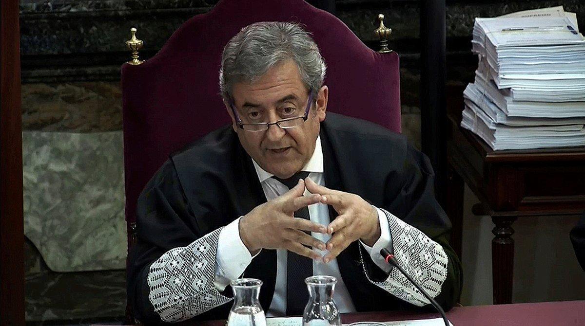 Javier Zaragoza, fiscal del Tribunal Supremo, durante el juicio del 'procés', el 4 de junio del 2019.