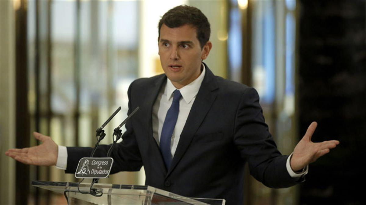 Roda de premsa d'Albert Rivera després de reunir-se amb Rajoy