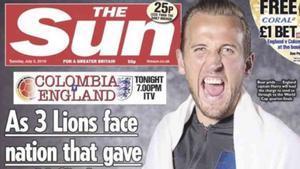 The Sun sobre el partido Colombia - Inglaterra