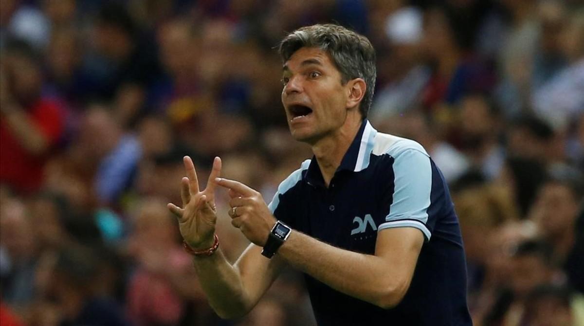 El entrenador Mauricio Pellegrino.