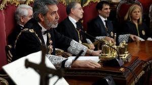 El presidente del Supremo y del Consejo General del Poder Judicial, Carlos Lesmes, el pasado 15 de enero en Madrid.