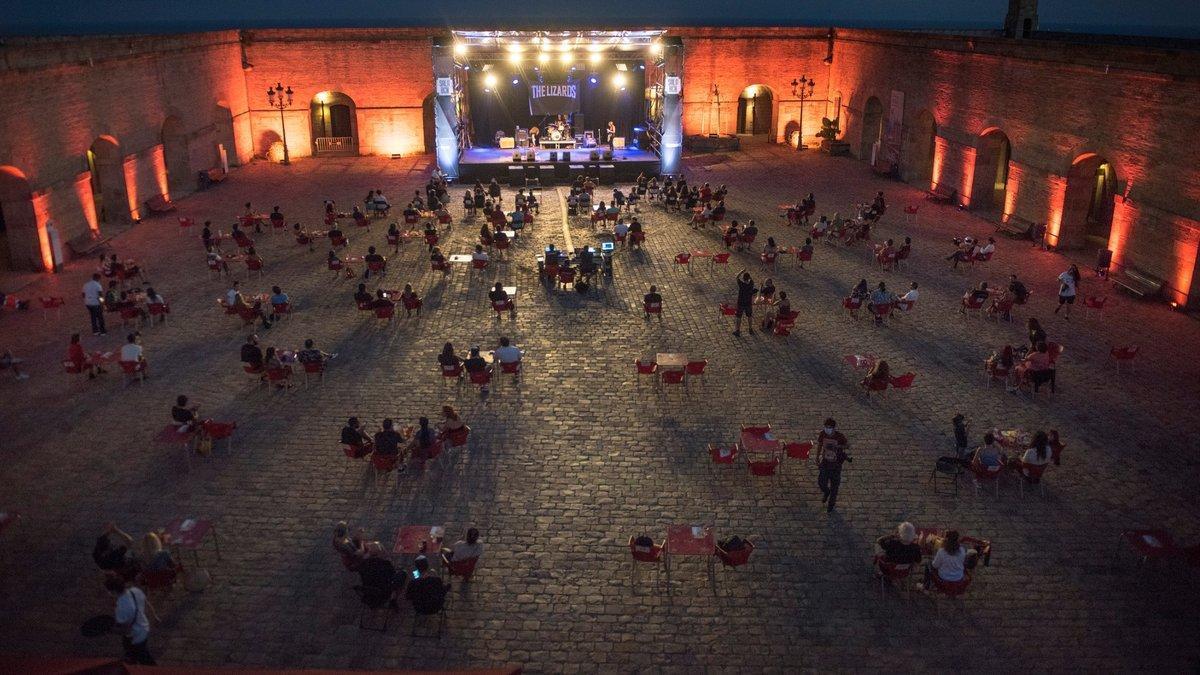 Uno de los conciertos enmarcados dentro del Festival Sala BCN, el pasado día 6en el Castell de Montjuïc.