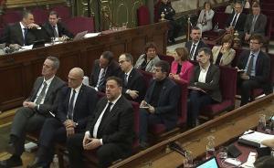 Los acusados del 'juicio del procés'.