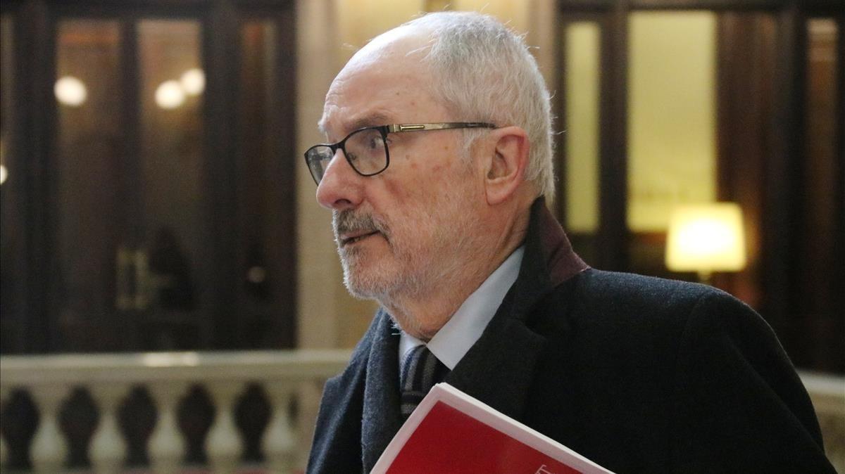 El Síndic de Greuges, Rafael Ribó, en una foto de archivo.