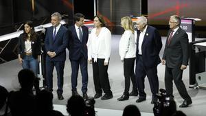 Los siete candidatos a alcade de Barcelona, en el debate de TV-3.