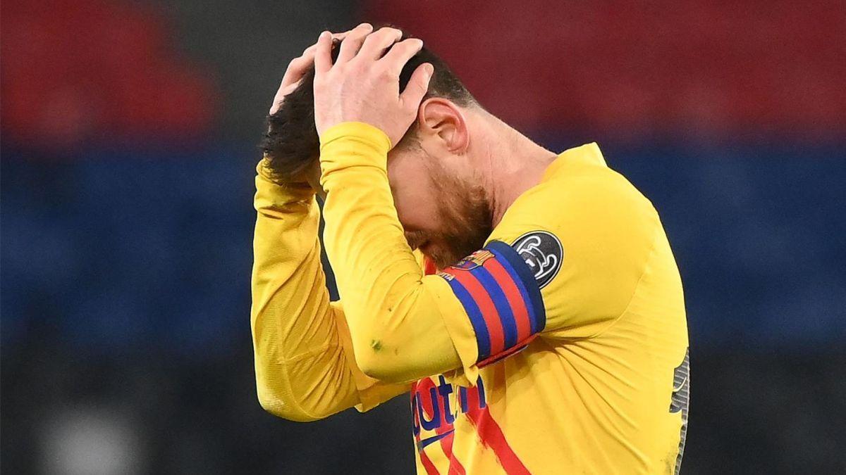 Messi, tras fallar el penalti en París.