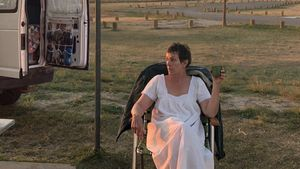 La actriz Frances McDormand en 'Nomadland'.