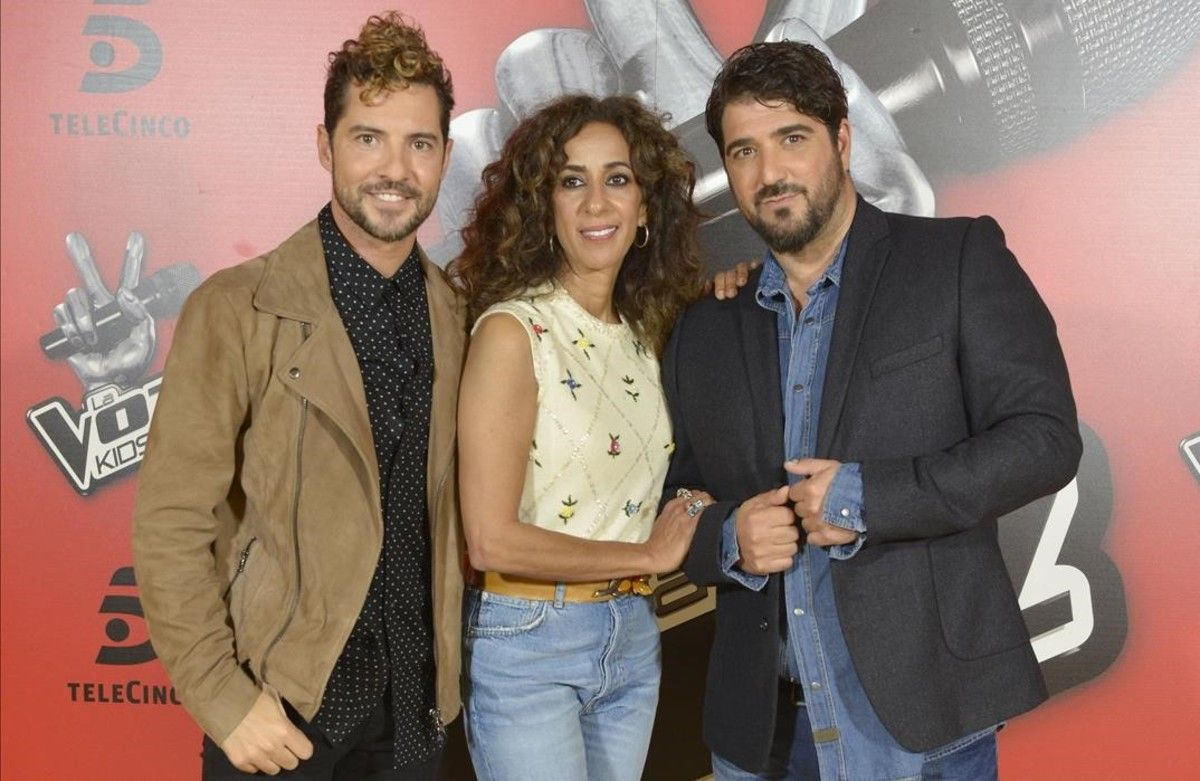 David Bisbal, Rosario Flores y Antonio Orozco, 'coaches' de 'La voz kids'.