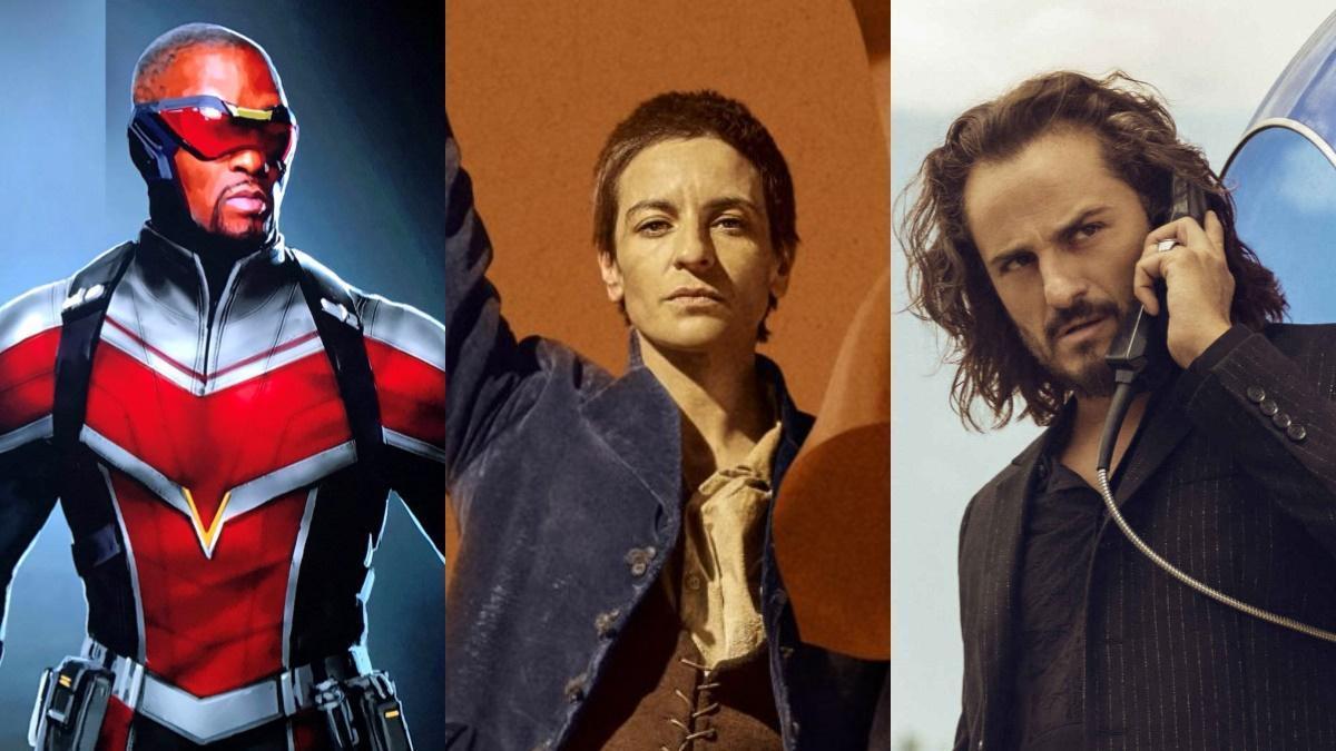 Imágenes de las series 'Falcon y Soldado de Invierno', 'Libertad' y 'Sky rojo'.