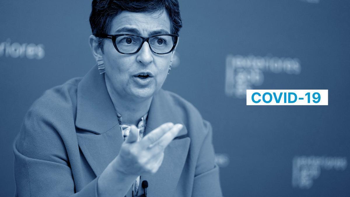 Arancha González Laya, ministra de Asuntos Exteriores, Unión Europea y Cooperación,  durante la entrevista.