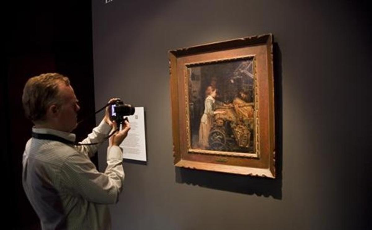 'La nena obrera' , el cuadro de Joan Planella comprado por el Museu d'Història de Catalunya.