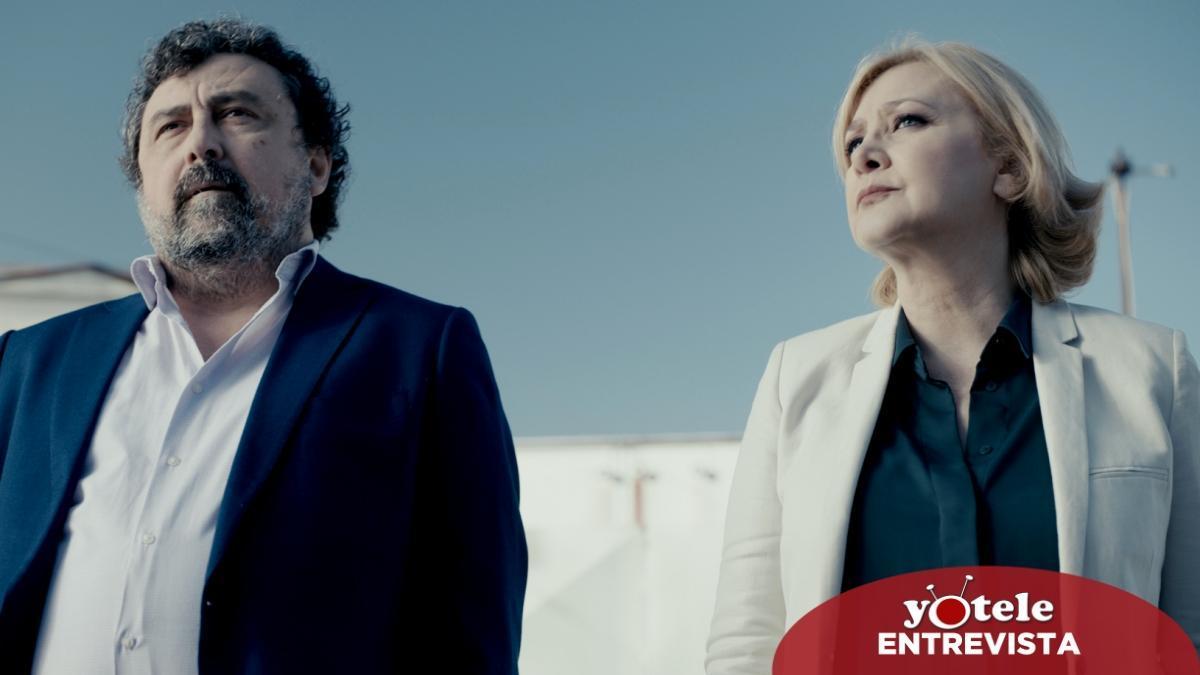 Paco Tous y Amparo Larrrañaga en una escena de la nueva temporada de 'Los hombres de Paco'.