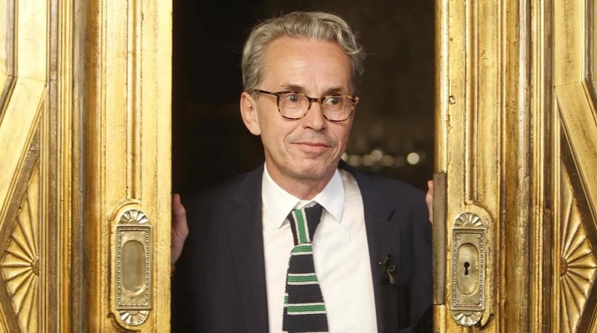 El franco-suizo Emmanuel Guigon, este viernes en un salón del Ayuntamiento de Barcelona, donde ha sido presentado como nuevo director del Museu Picasso.
