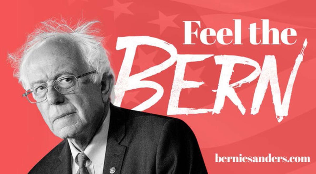 Publicida de Bernie Sanders.