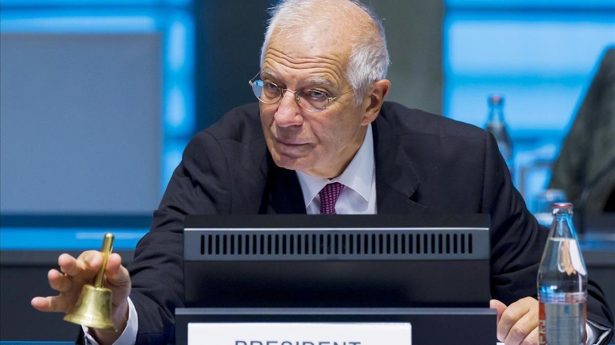 Josep Borrell abre la reunión de los ministros de Exteriores europeoseste lunesen Luxemburgo