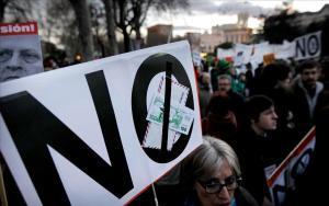 Imagen de una de las manifestaciones convocadas en Madrid contra los recortes y la corrupción.