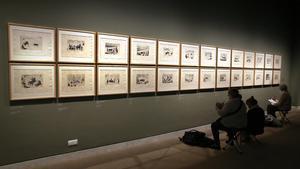 El Museu Picasso abre los miércoles las puertas a los copistas, en el marco de la exposición 'Picasso. Los cuadernos'.