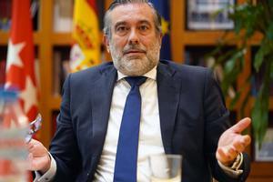 El consejero de Justicia de la Comunidad de Madrid y secretario de este área en el PP, Enrique López, el pasado mes de septiembre, durante una entrevista con EL PERIÓDICO.