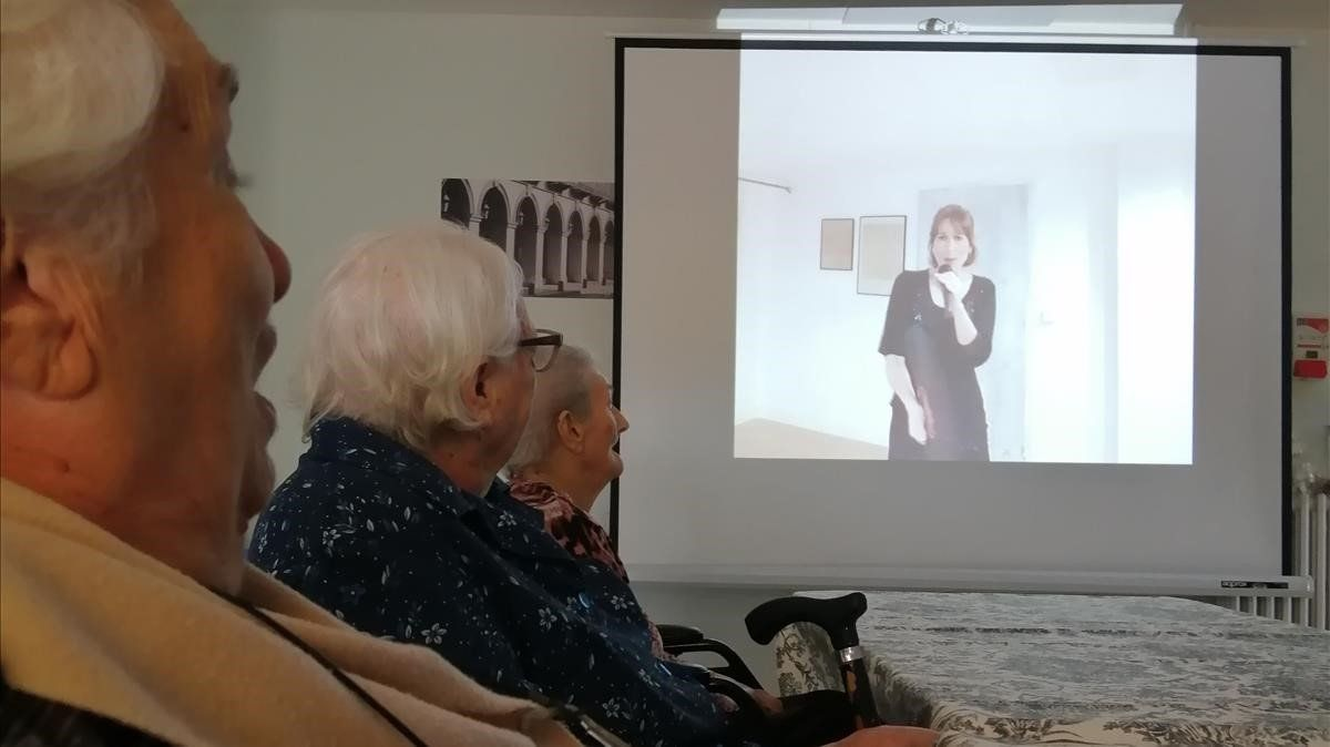 Ancianos de la Residència Zoilo Feliu de La Bisbal d'Empordà