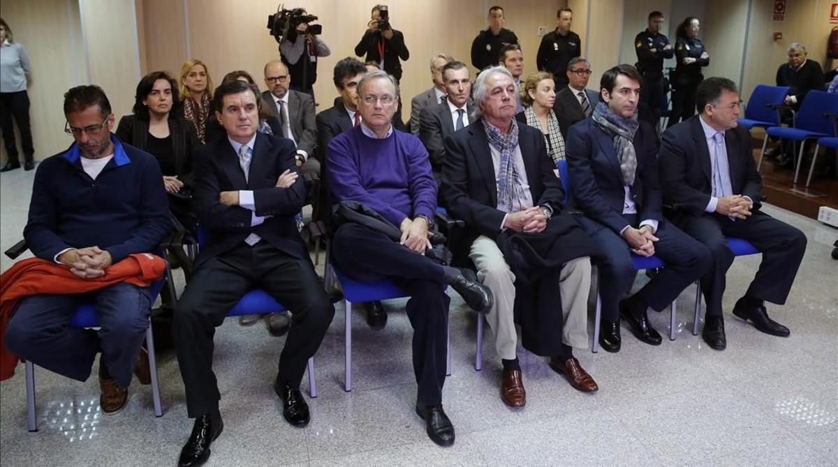 Los 17 acusados en el juicio del 'caso Nóos'.