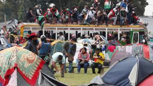 Protestas indígenas en Bogotá, Colombia.