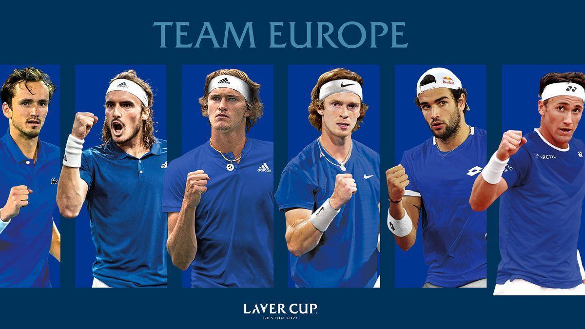 El equipo europeo de la Laver Cup.