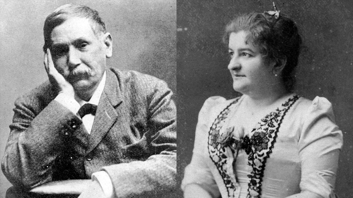 Benito Pérez Galdós y Emilia Pardo Bazán.