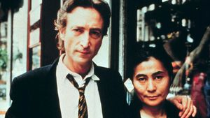 John Lennon y Yoko Ono, en Nueva York en 1980