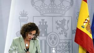 La ministra portavoz y de Hacienda,María Jesús Montero.