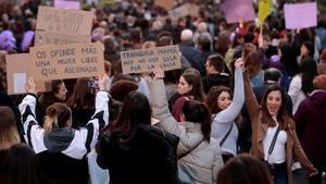 Manifestación feminista en Madrid para reclamar la igualdad entre hombres y mujeres.