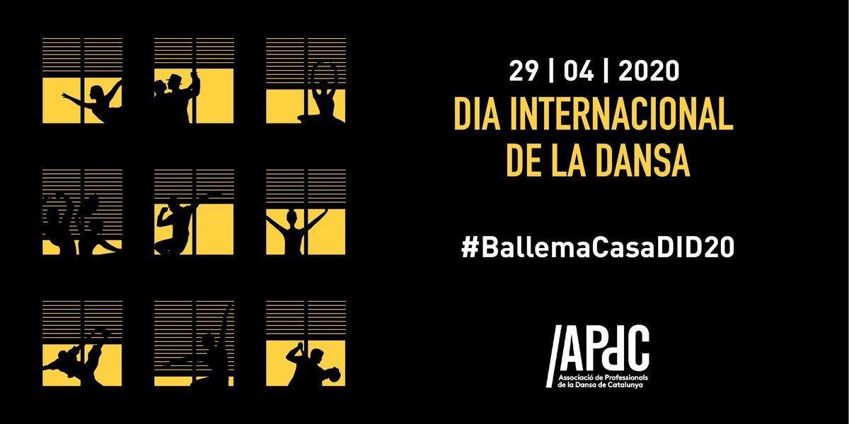Cartel anunciador del acto con motivo del Día Internacional de la Danza.