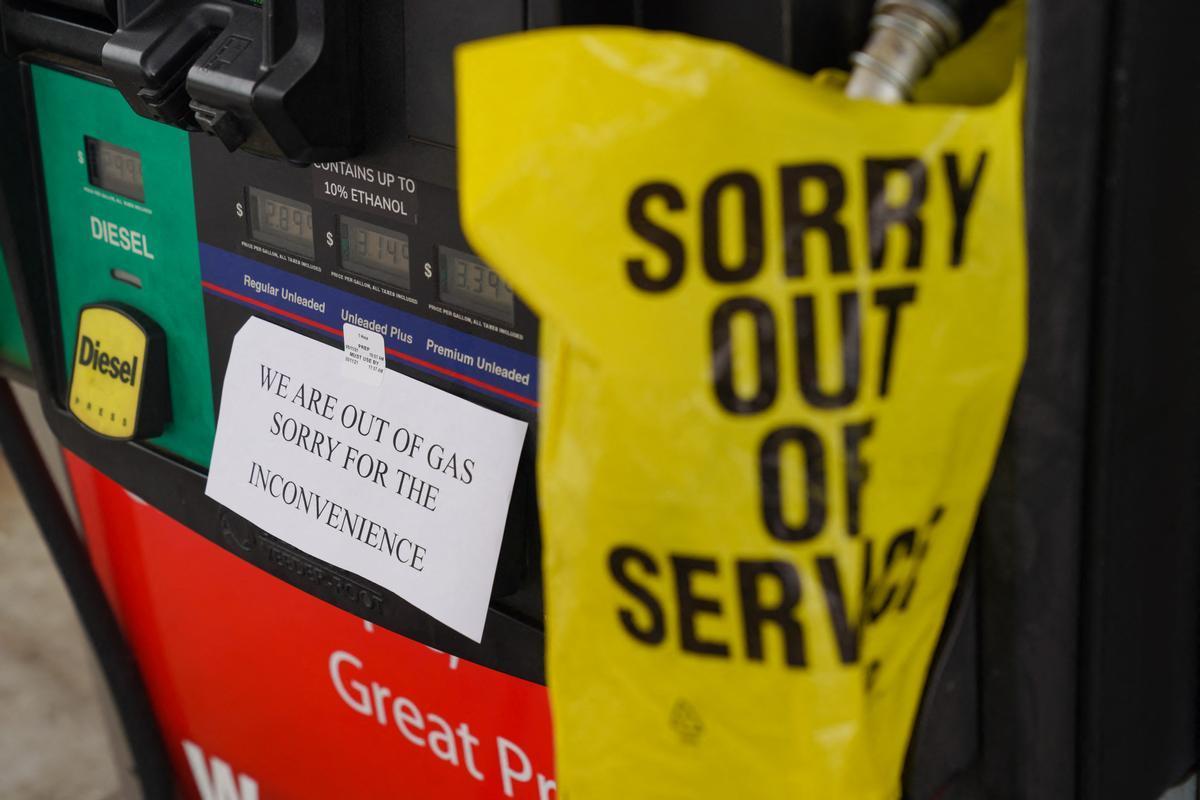 Una gasolinera fuera de servicio por el ciberataque a Colonial.