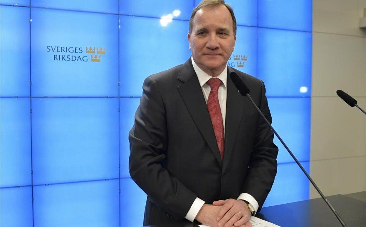 El socialdemócrata Stefan Löfven, primer ministro sueco.