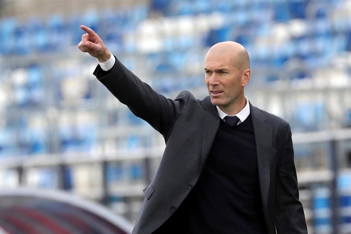 Zidane, durante su último partido en el Madrid, disputado frente al Villarreal.