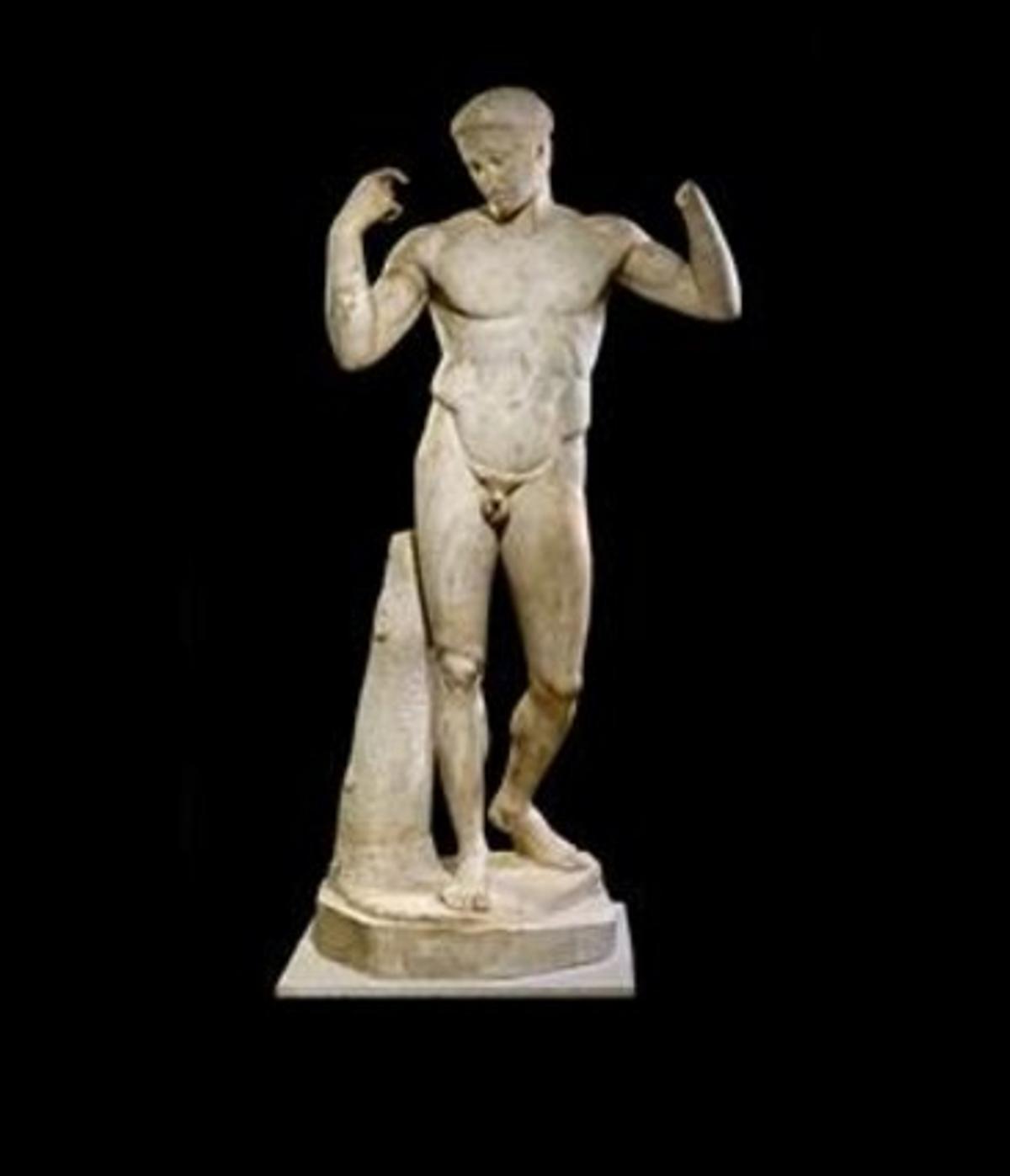 ATLETA. 'Laescultura de Diadumeno', una de las piezas griegas más valoradas.