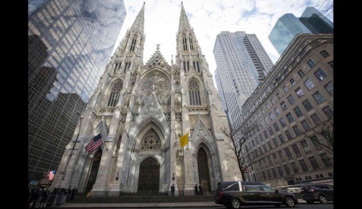 Una iglesia católica en Nueva York.