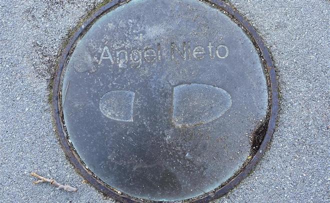 La minúscula huella del malogrado Angel Nieto.