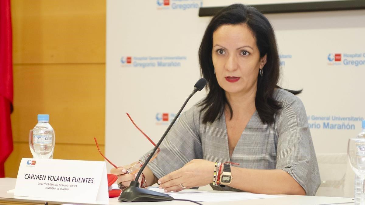 Yolanda Fuentes, en un acto como directora general de Salud Pública de la Comunidad de Madrid.